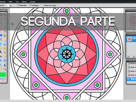 ¿Como pintar mandalas online? – Segunda parte