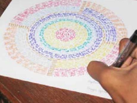 Creando mandalas escritos