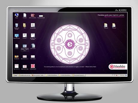 Fondos de pantalla de mandalas – Mandala Violeta