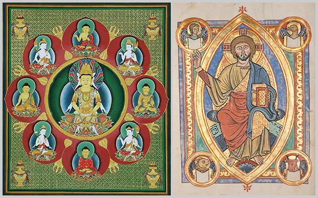 Comparación entre un Mandala y una Mandorla