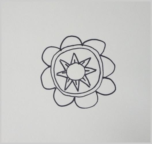 Paso 6 para dibujar un mandala