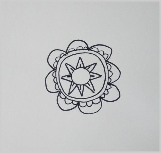 Paso 7 para dibujar un mandala