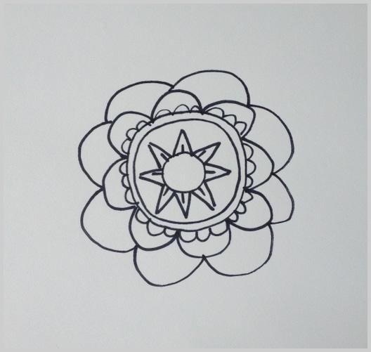 Paso 8 para dibujar un mandala