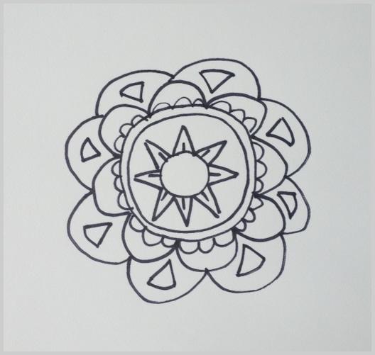 Paso 9 para dibujar un mandala