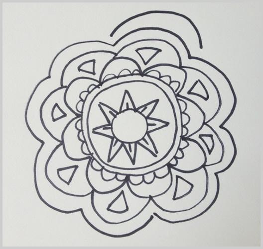 Paso 10 para dibujar un mandala