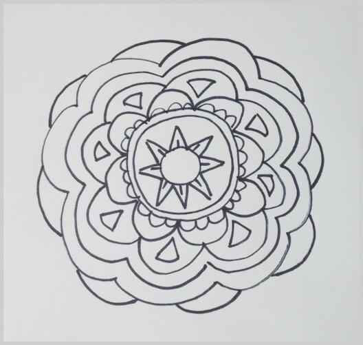 Paso 11 para dibujar un mandala