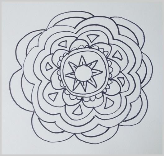 Paso 12 para dibujar un mandala