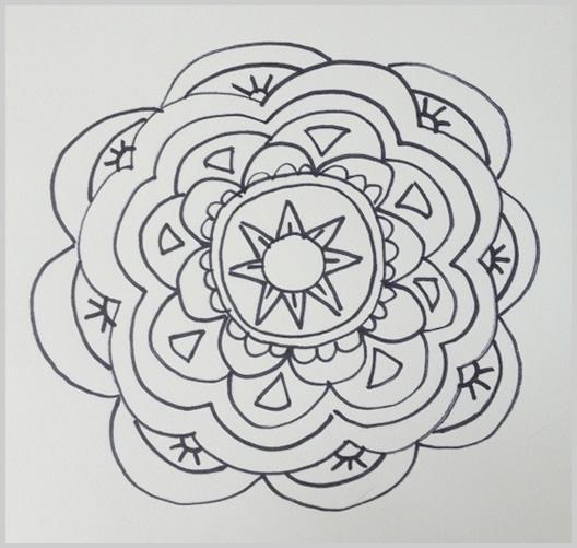Paso 13 para dibujar un mandala