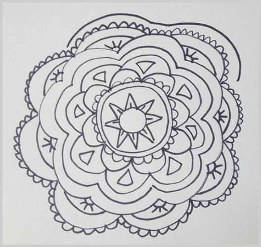 Paso 14 para dibujar un mandala