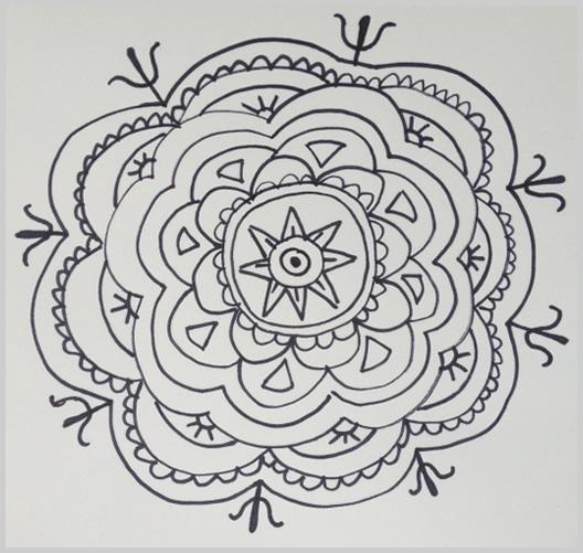 Paso 15 para dibujar un mandala