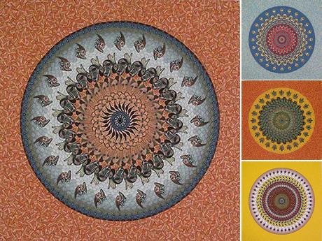 Marietta Ganapin deconstrucción y creación de mandalas
