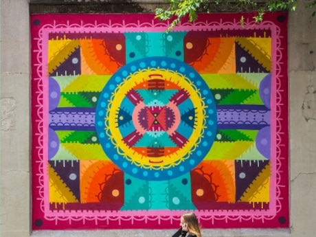 Mandalas en el arte urbano, entrevista al artista H101.